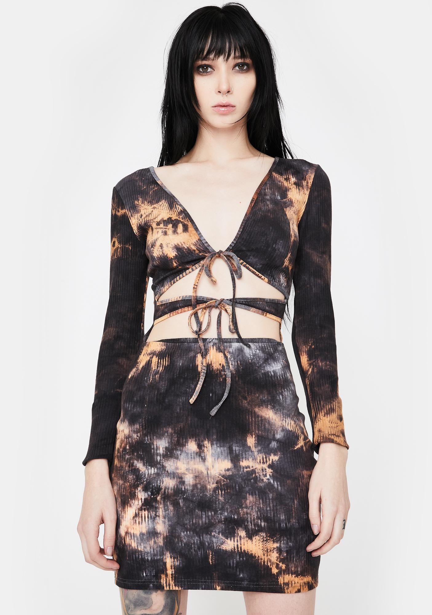 I AM GIA Steel Tie Dye Gabriella Mini Dress