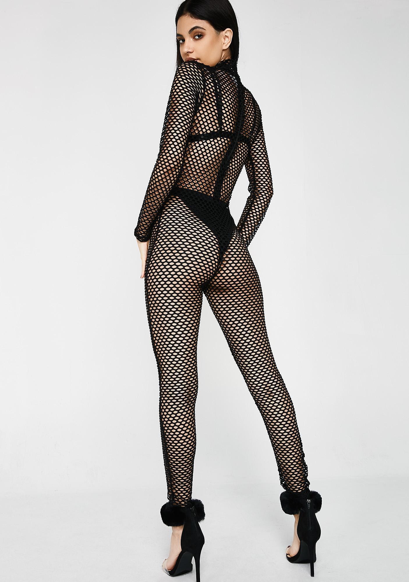 Kiki Riki Make Ya Look Fishnet Jumpsuit