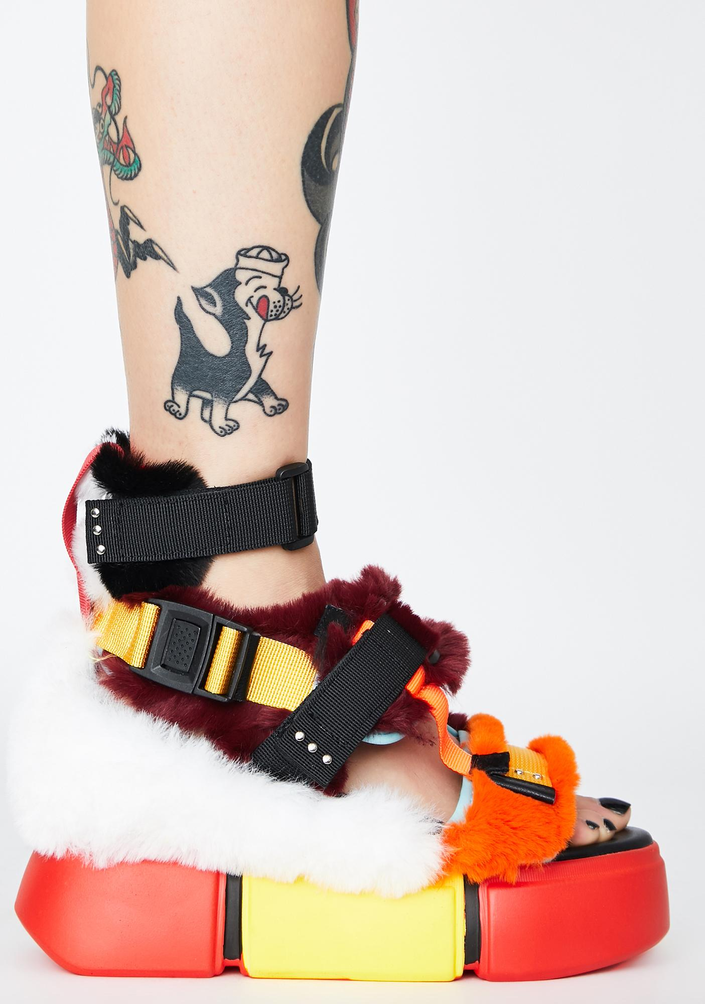 Anthony Wang Mood 4L Fuzzy Sandals