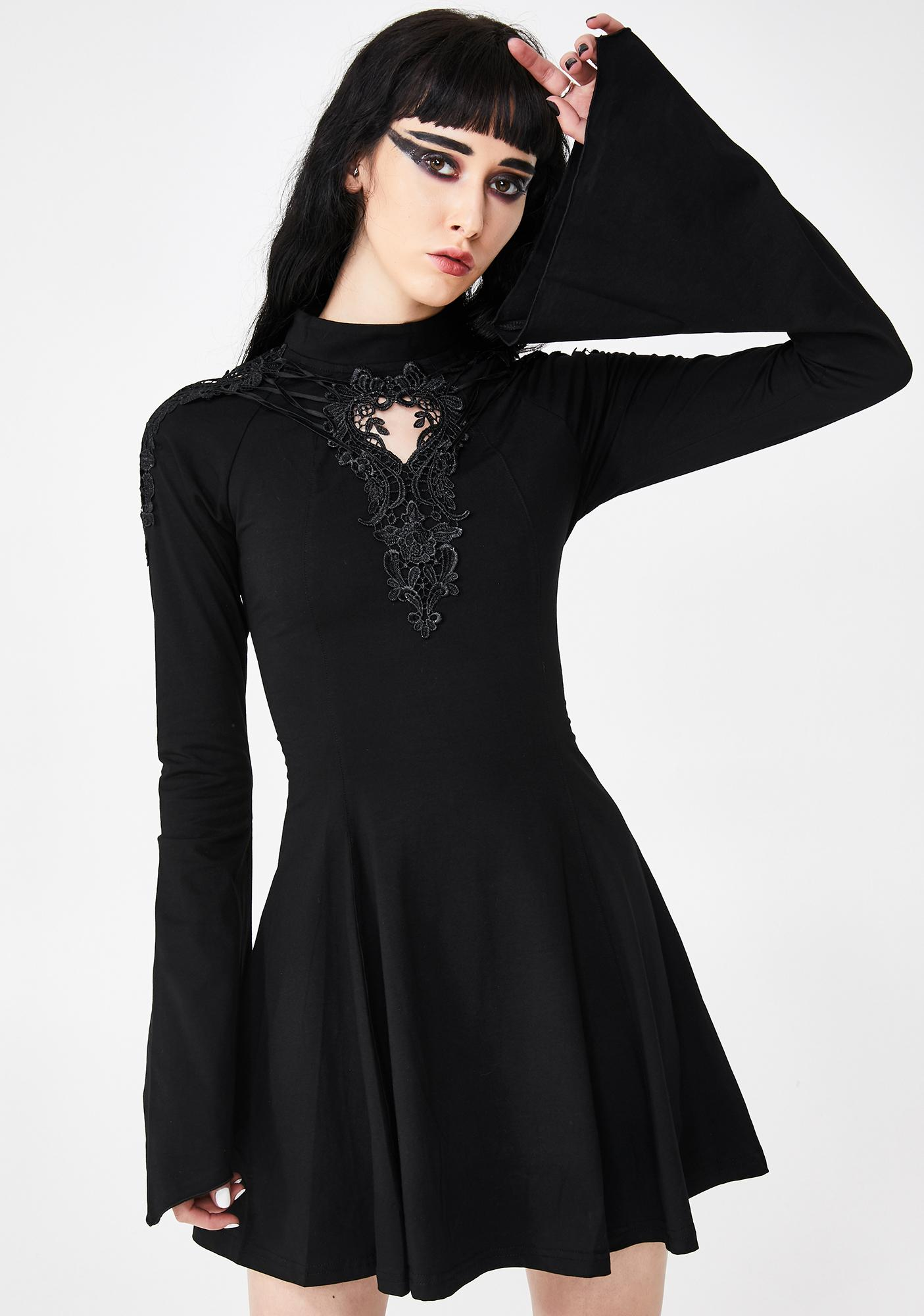 Punk Rave Gothic Hollow Pendulum Dress