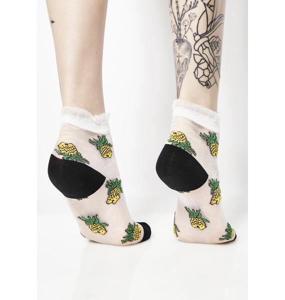 Fine Apple Sheer Socks