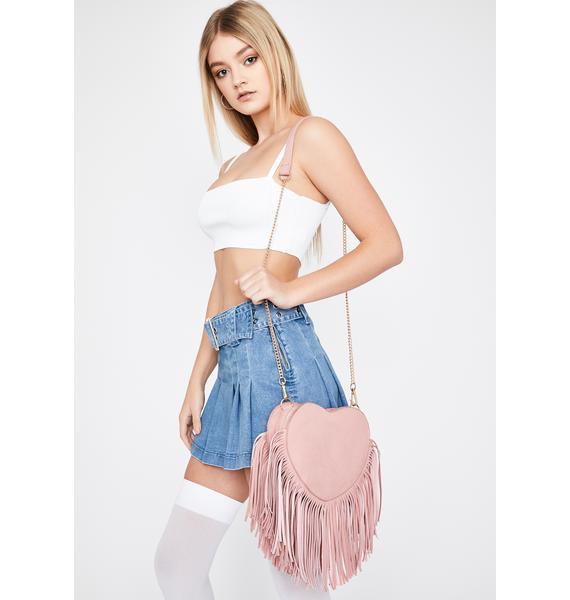 Tug At My Heart Strings Fringe Handbag