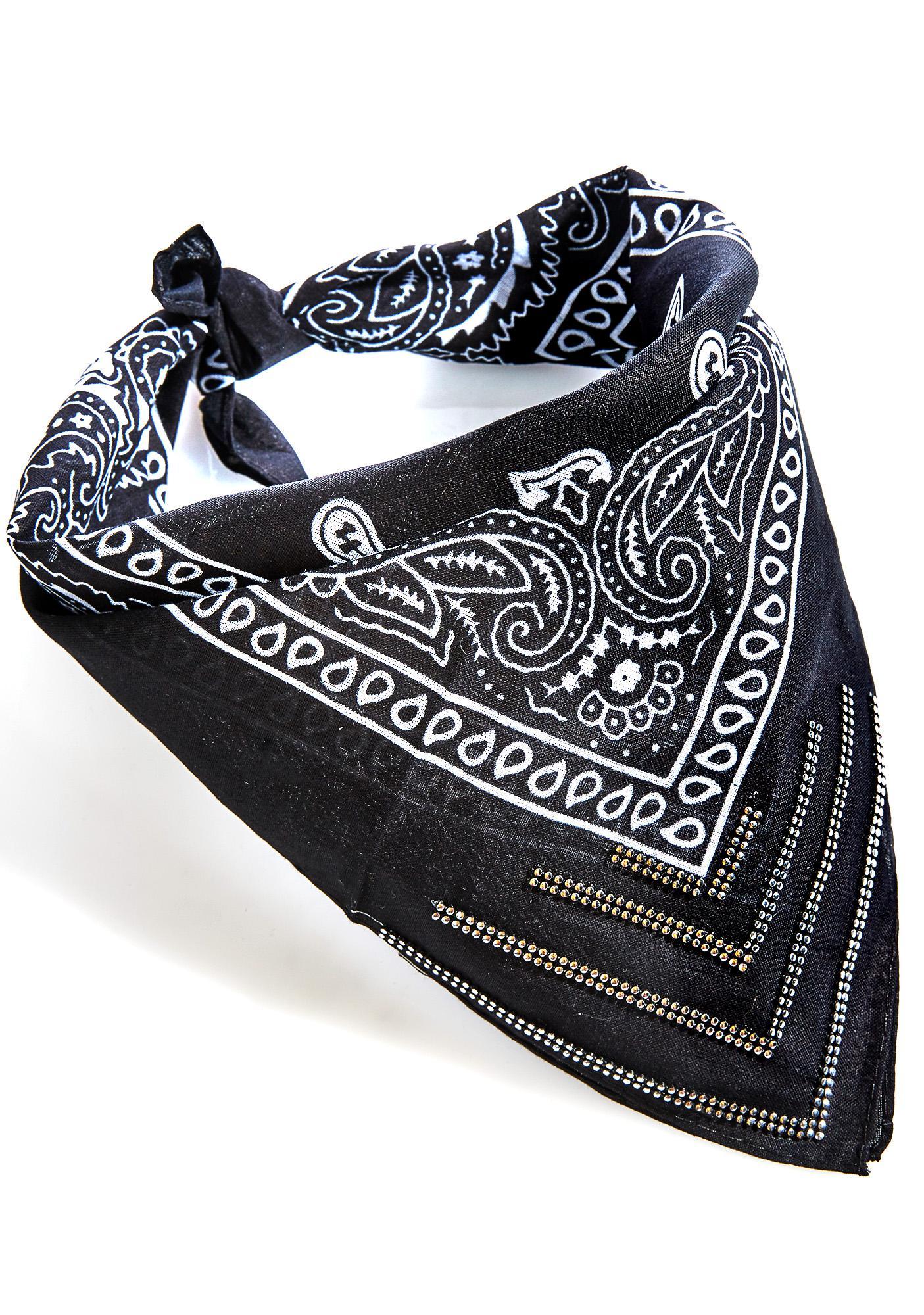 Onyx Studded Bandana