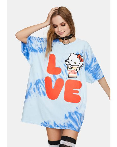 Oversized Love Tie Dye Graphic Tee