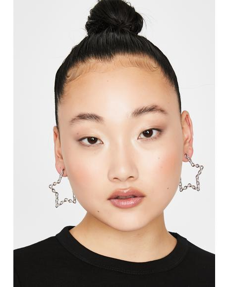 Star Bright Chain Earrings