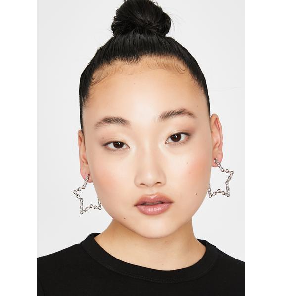 Star Bright Chain Earrings