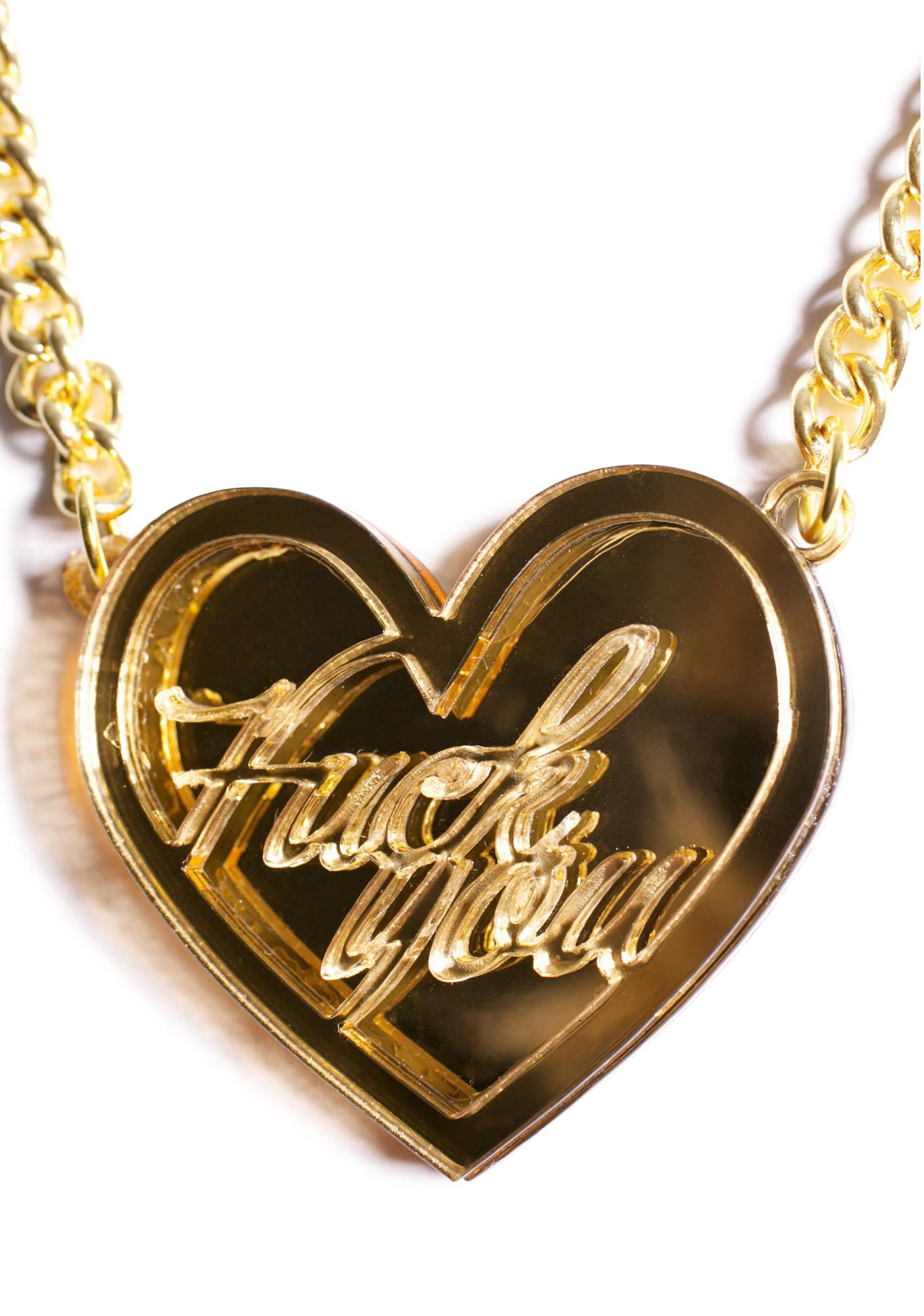 Fuck You Love Note Necklace