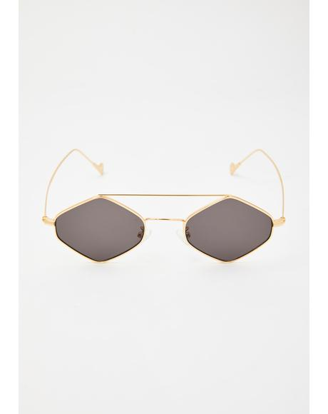 Take Me There Wire Frame Sunglasses