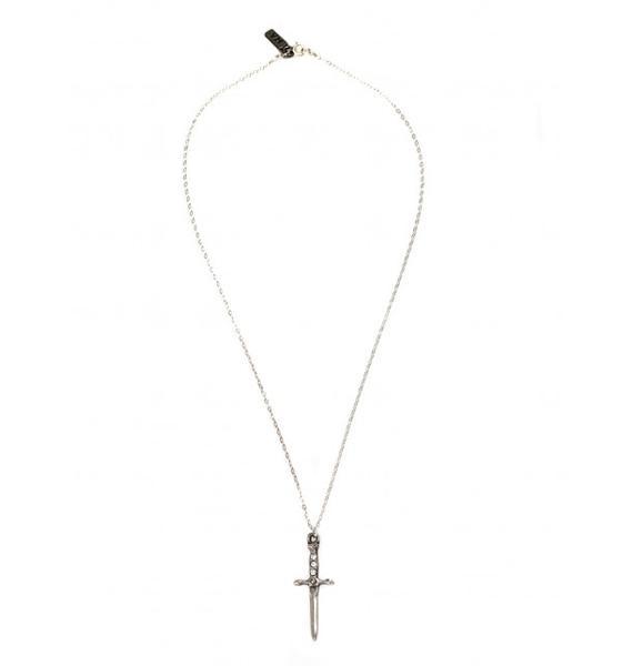 Vanessa Mooney Palladium Dagger Necklace