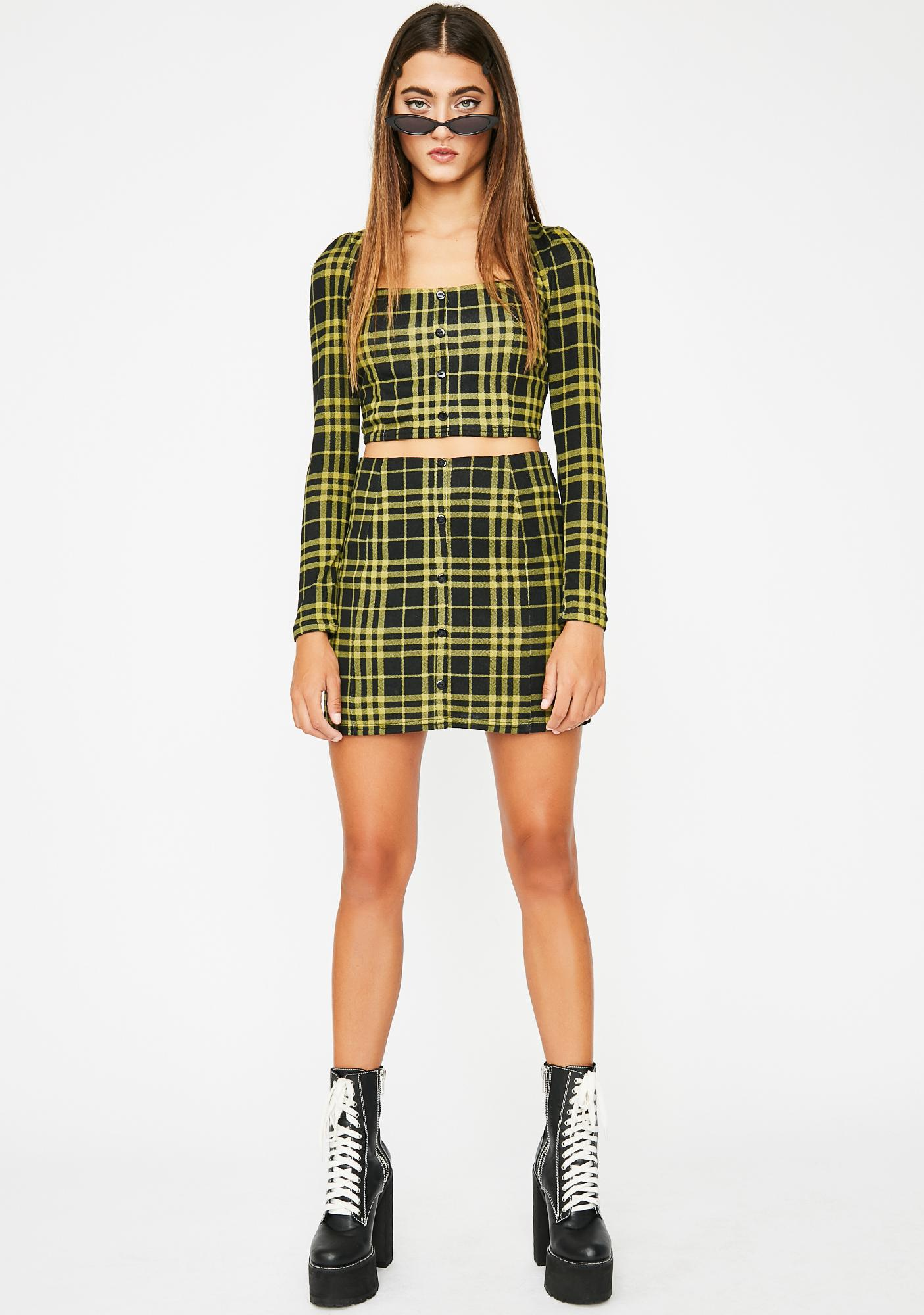 Like Totally Plaid Skirt