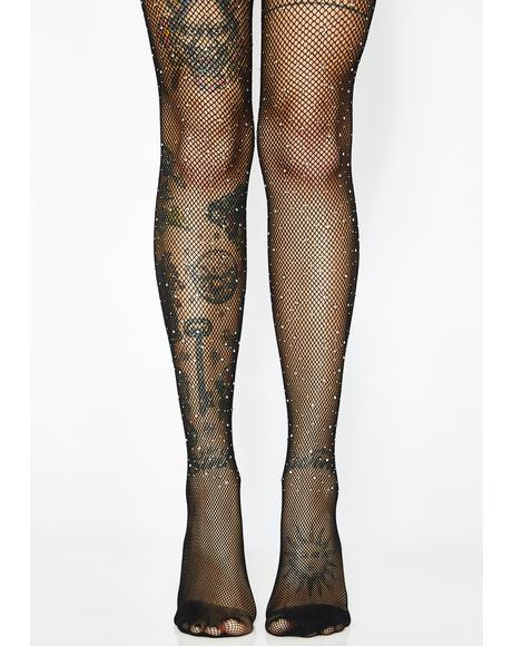 Crystal Dreamer Fishnet Tights