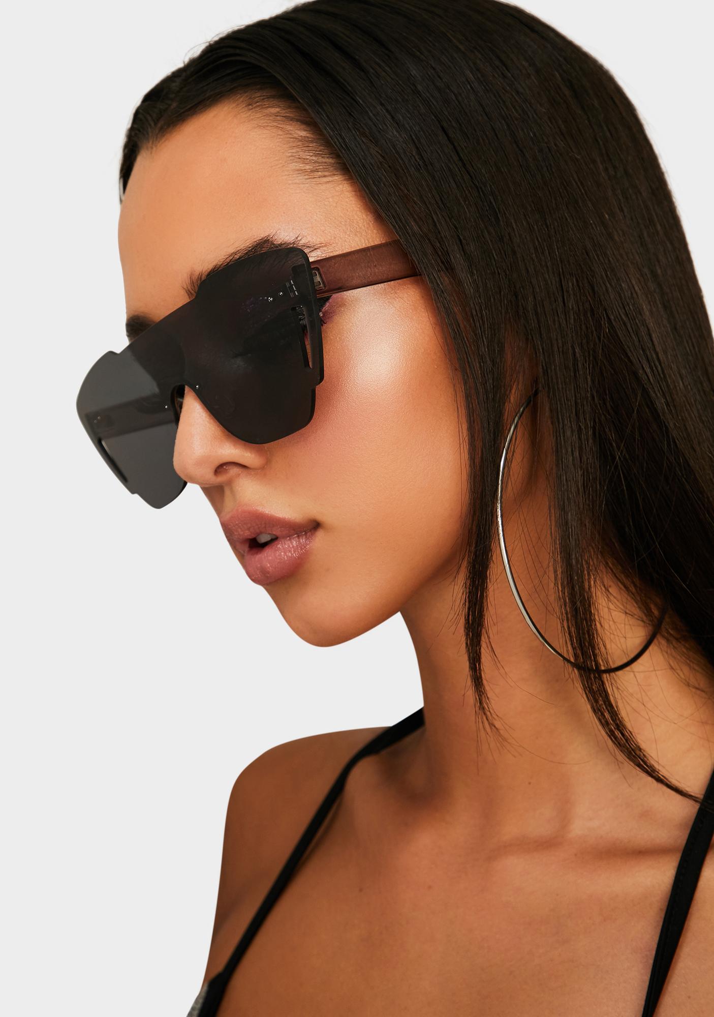 Dark Keep It Kool Clear Sunglasses