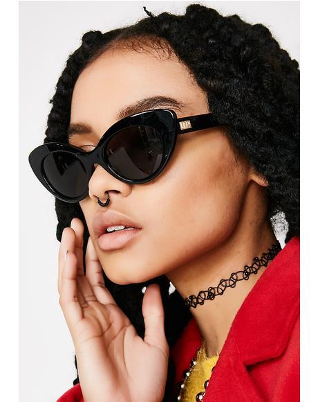 The Wild Gift Gloss Black Sunglasses