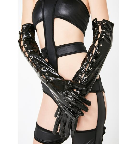 Crack The Whip Lace-Up Gloves