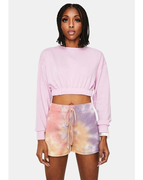 Blush Friday Feeling Cropped Sweatshirt