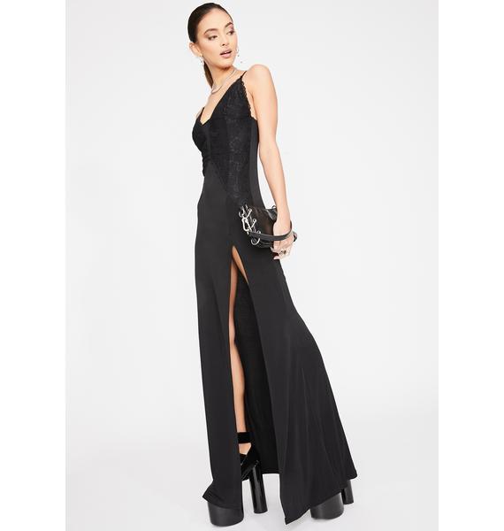 Kiki Riki Noir Showstopper Maxi Dress