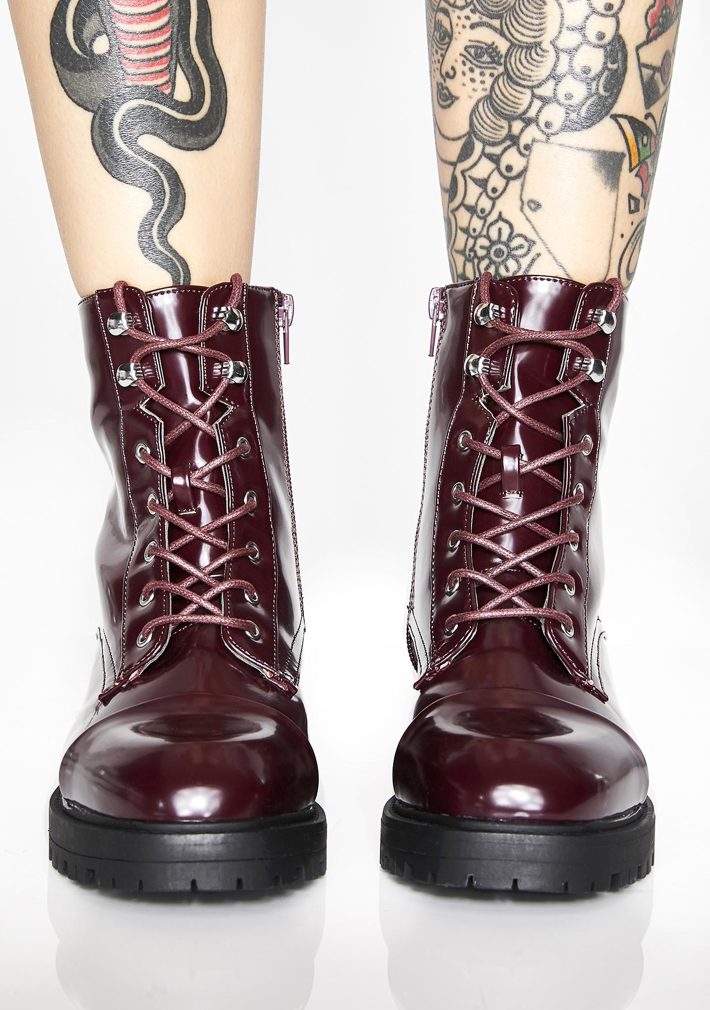 Glossy Illusions Combat Boots