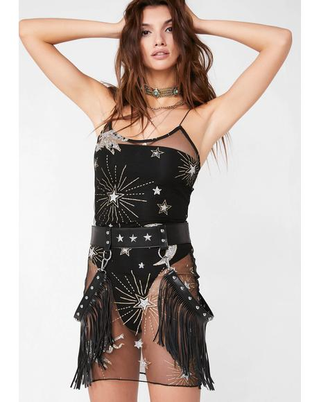 Sheer Stardust Slip Dress
