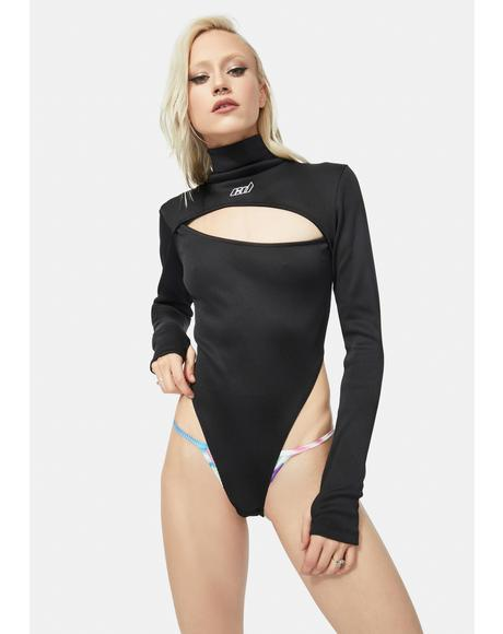 High Neck Chest Slash Bodysuit
