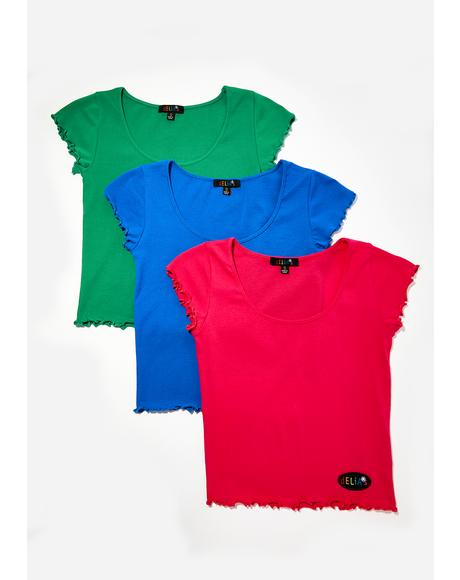 Berry Primary Cutie Tees 3 Pack