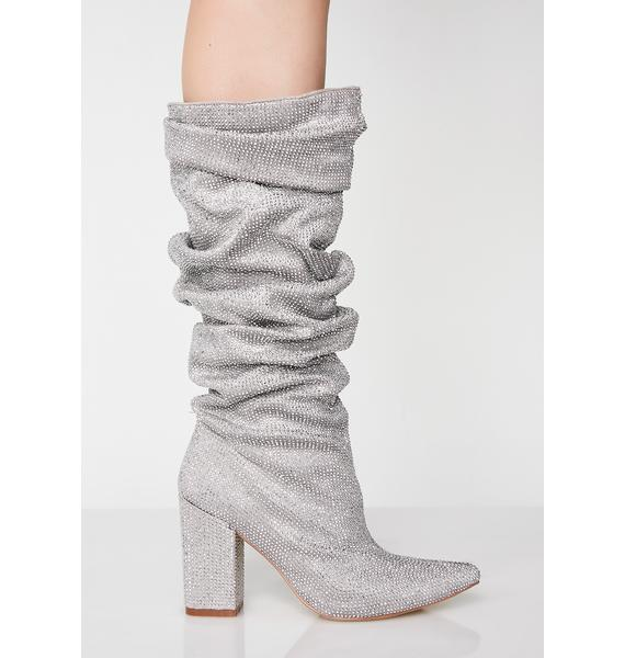 Platinum Stand Tall Slouchy Boots