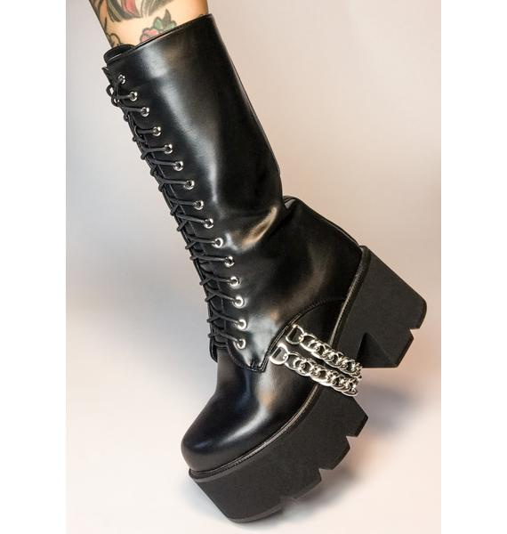 Lamoda Lose Yourself Lace Up Boots