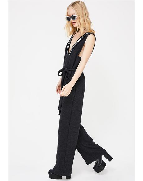 Got A Feeling Tie Waist Jumpsuit