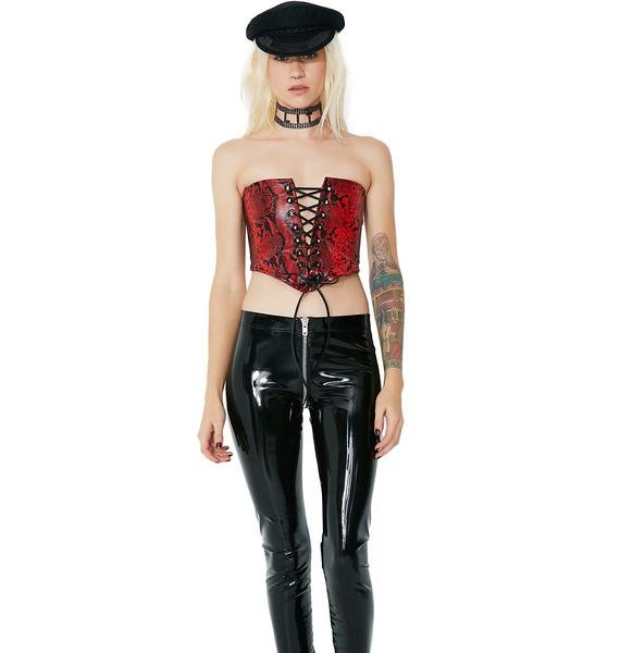 Poisonous Princess Lace-Up Corset Top