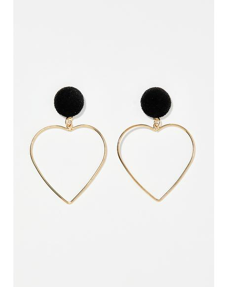 Sinful Lovable You Heart Earrings