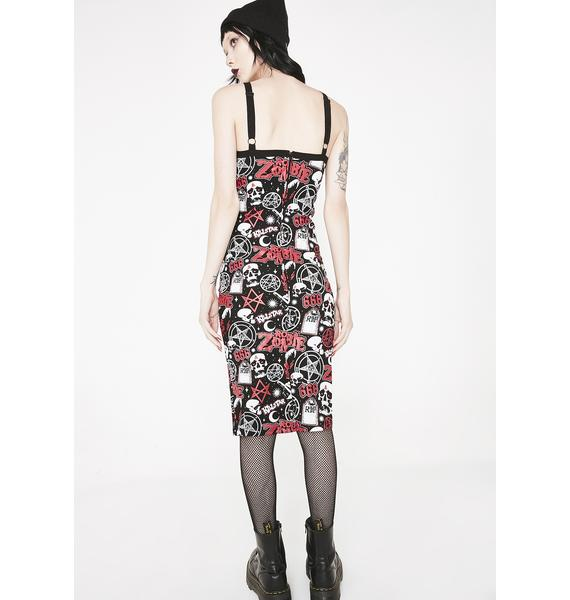 Killstar Demonoid Midi Dress