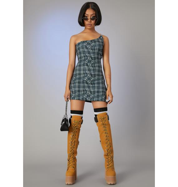Poster Grl Never The Same Plaid Mini Dress