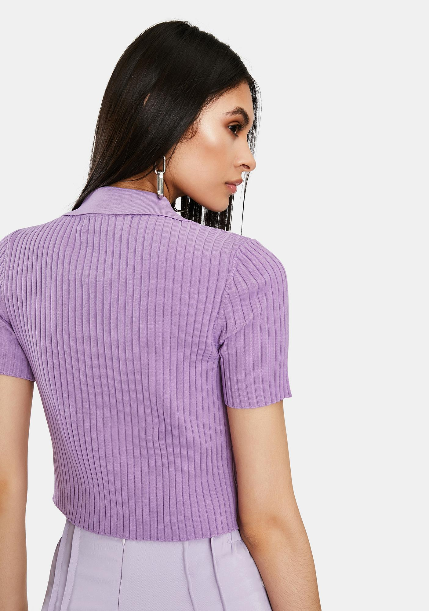 THE KRIPT Purple Rina Crop Top