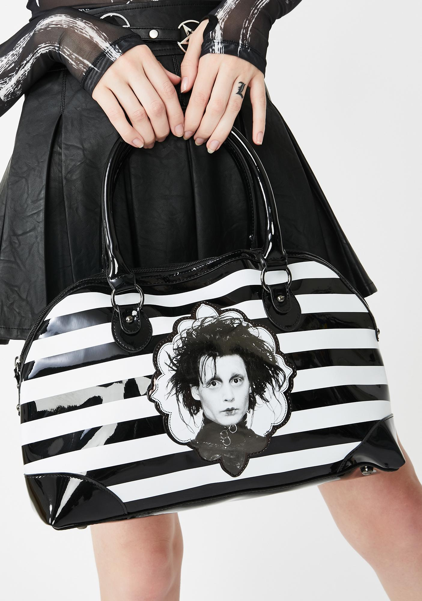 Rock Rebel Edward Scissorhands Striped Handbag