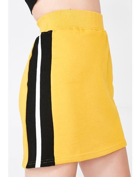 Posh N Sporty Mini Sweatskirt