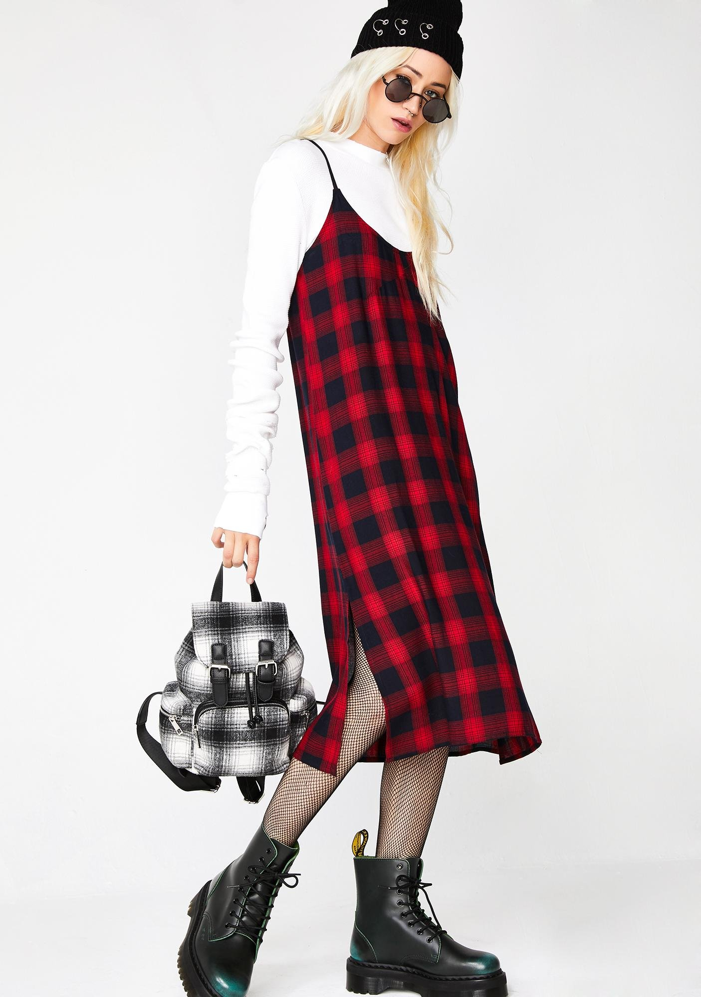 Current Mood Ruby Soho Plaid Dress