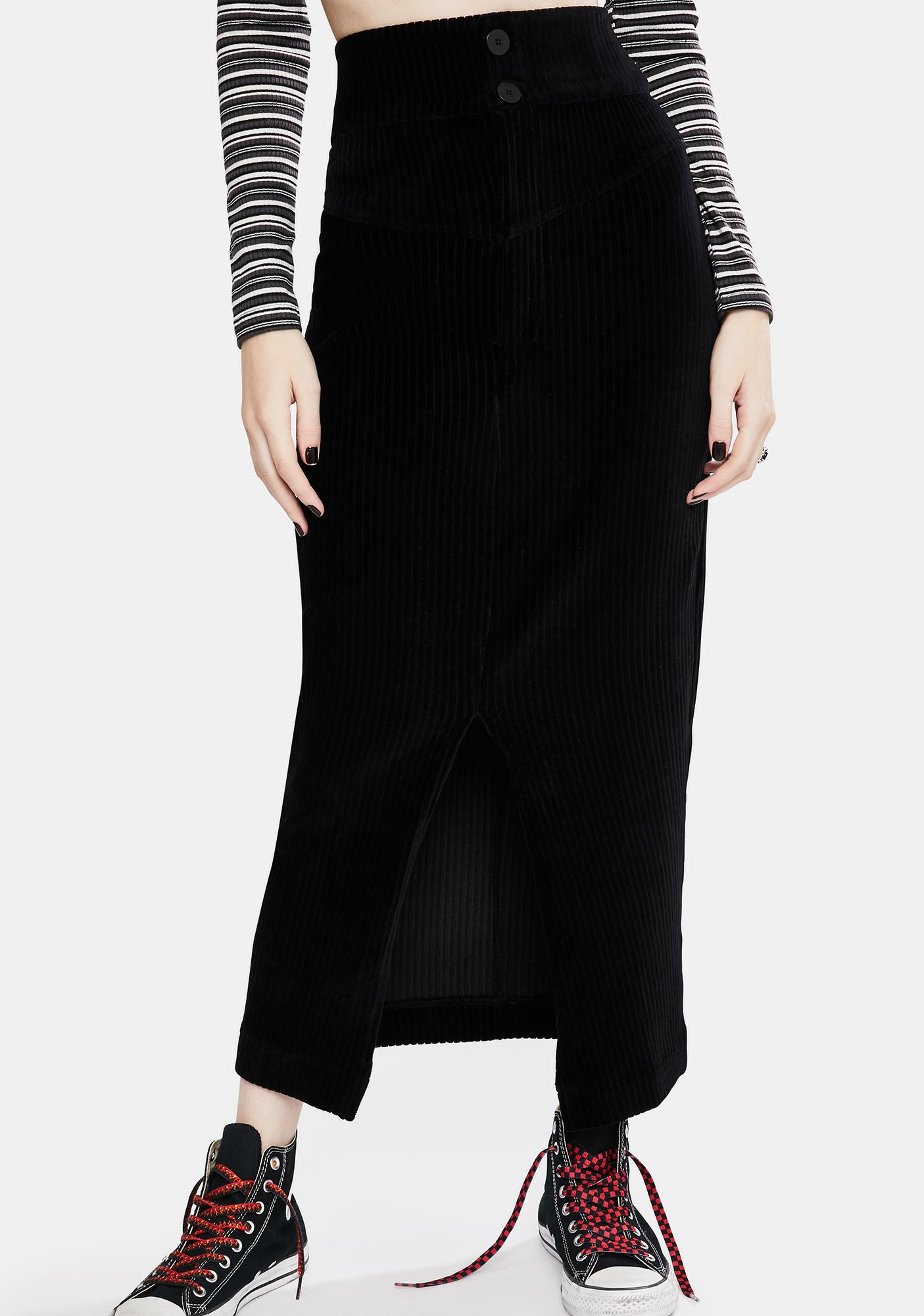 Free People Roxy Rib Pencil Skirt