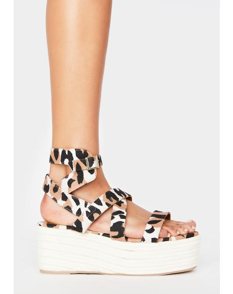 Wildin' Out With A Bang Gladiator Sandals