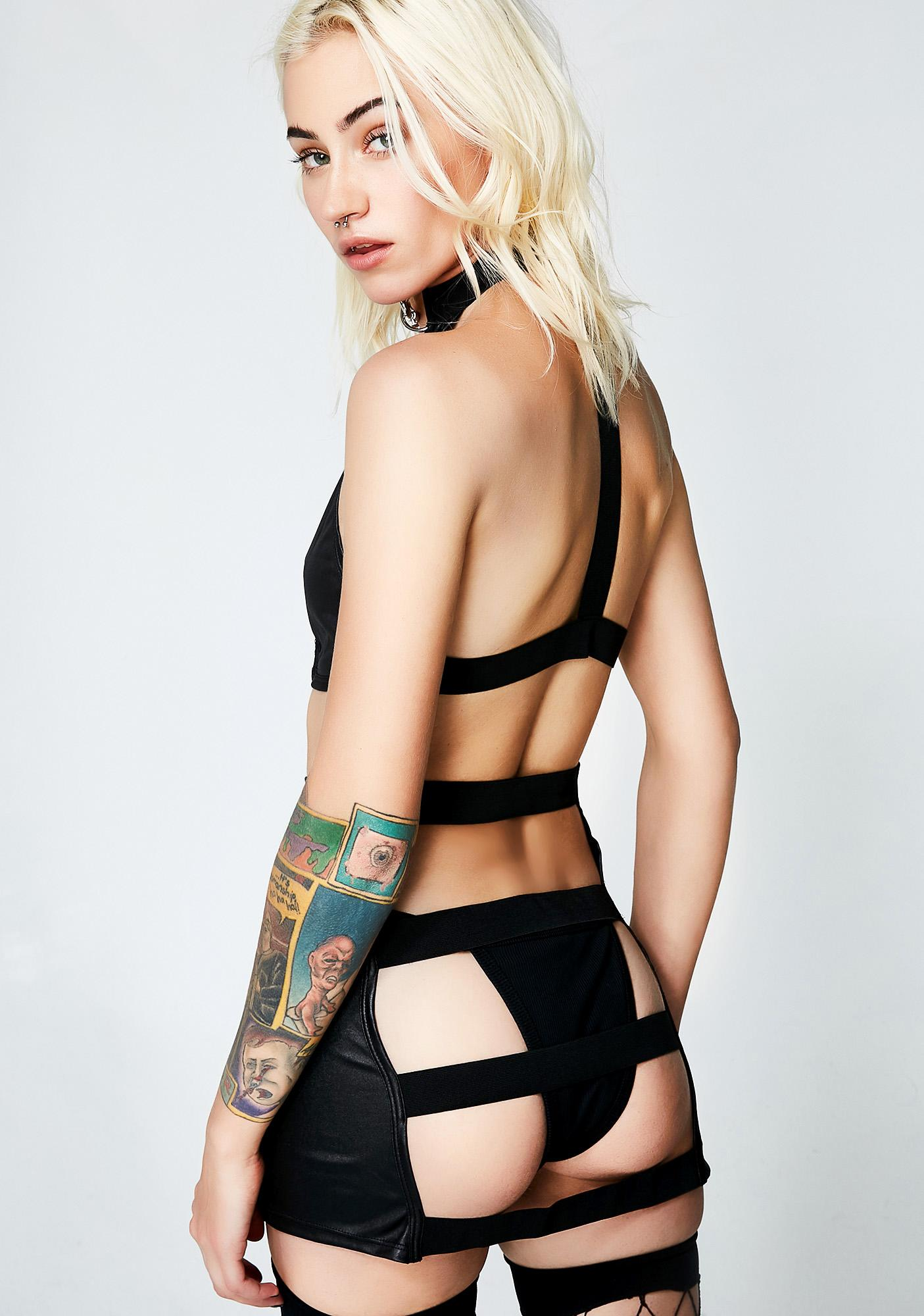 Taste Of Sin Strappy Set