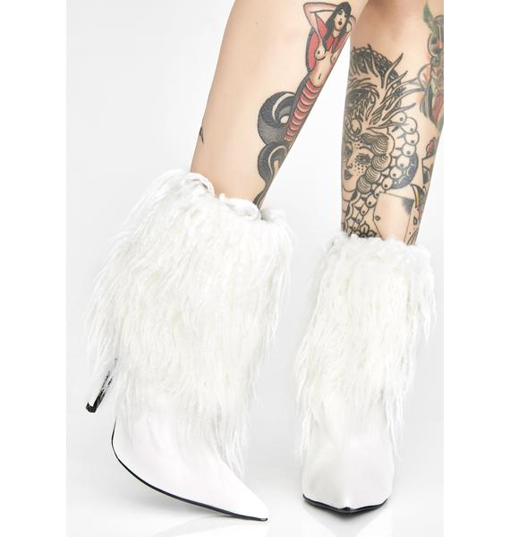 Stay Blessed Fuzzy Boots