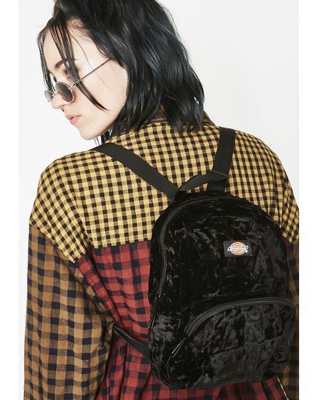 Crushed Velvet Mini Backpack
