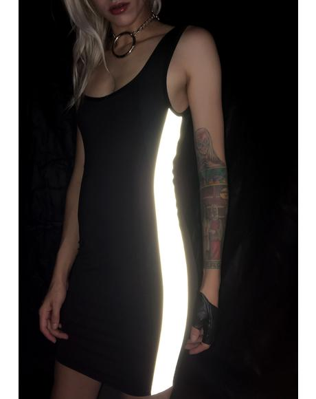 Throw It Back Reflective Dress
