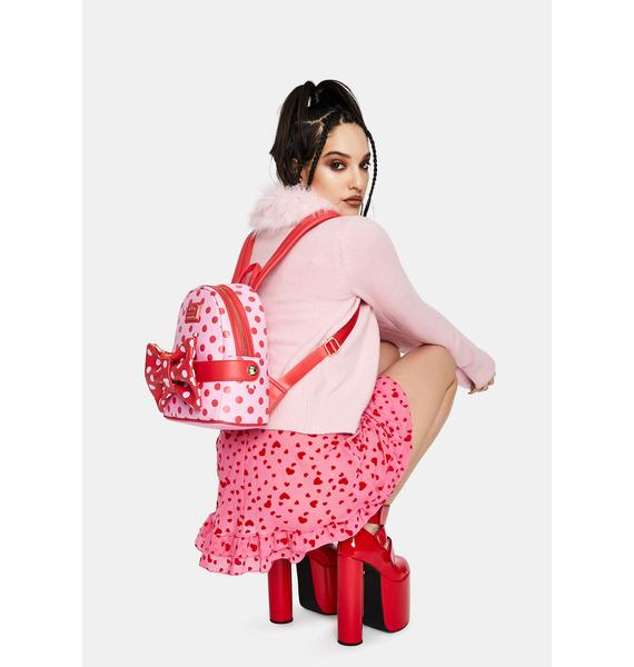 Loungefly Minnie Mouse Pink Bow Backpack