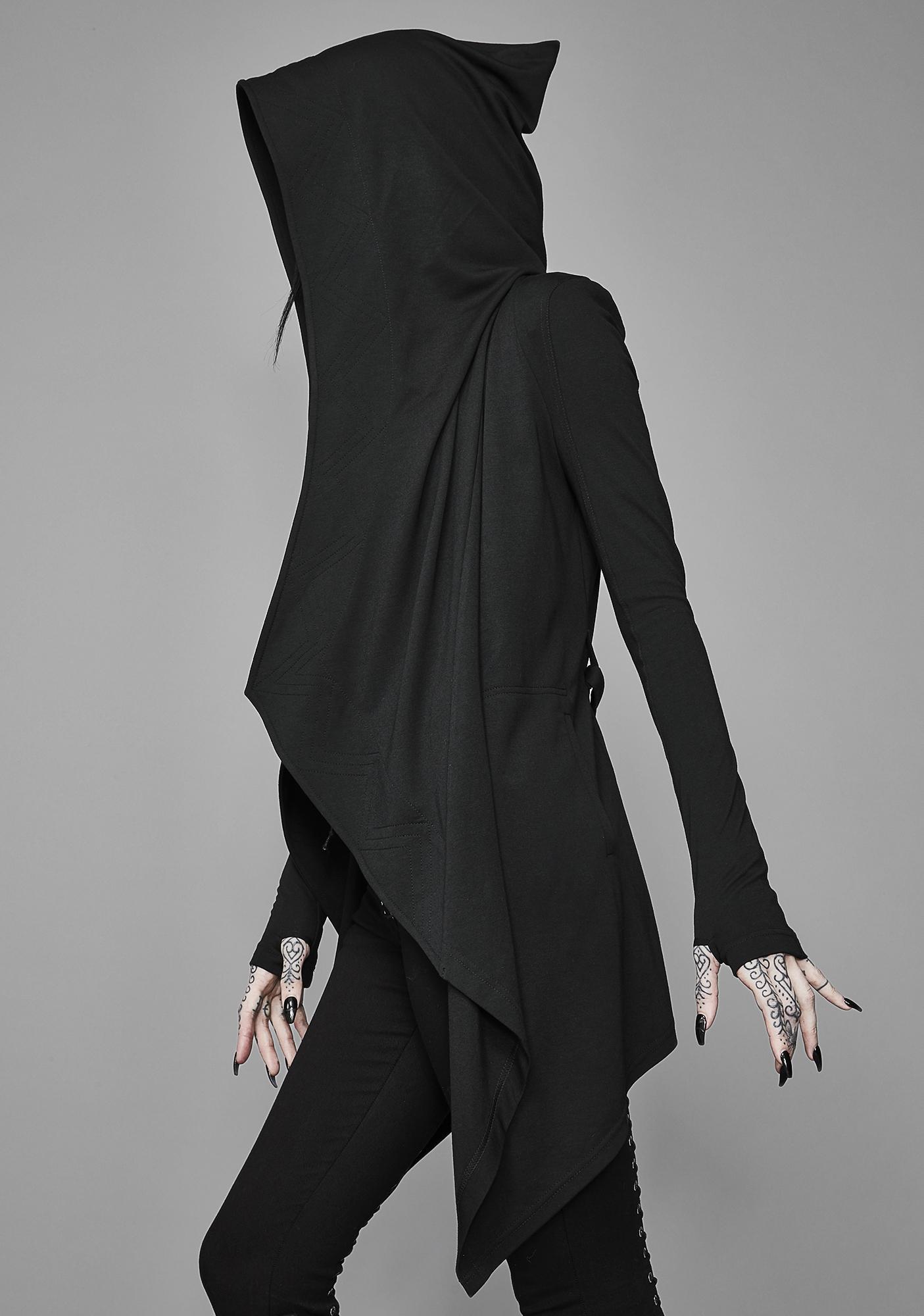 Widow Dark Divinity Draped Hoodie