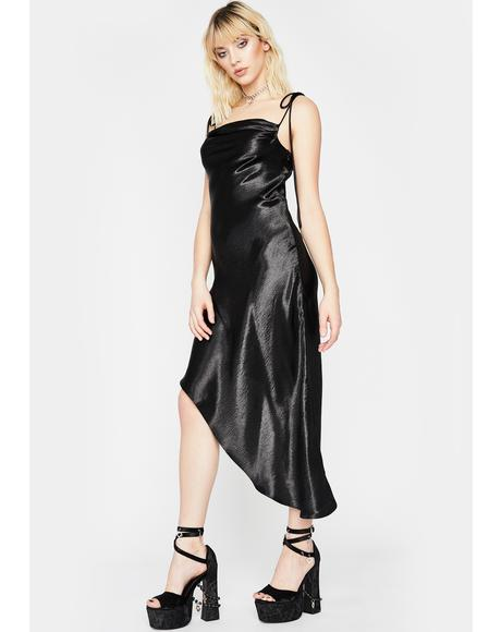 Hollywood Heartthrob Satin Dress