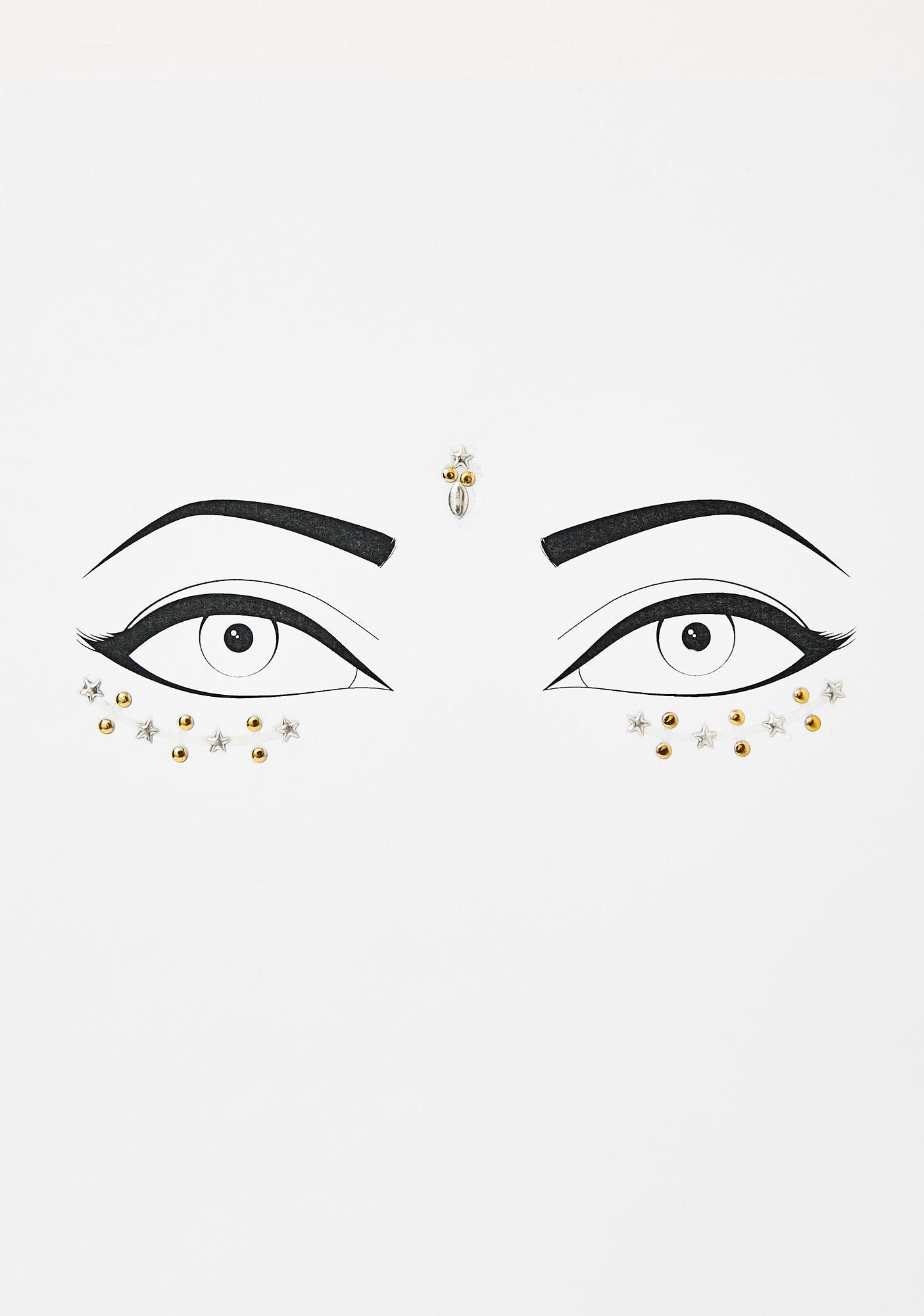 Metallic Stargaze Face Jewels