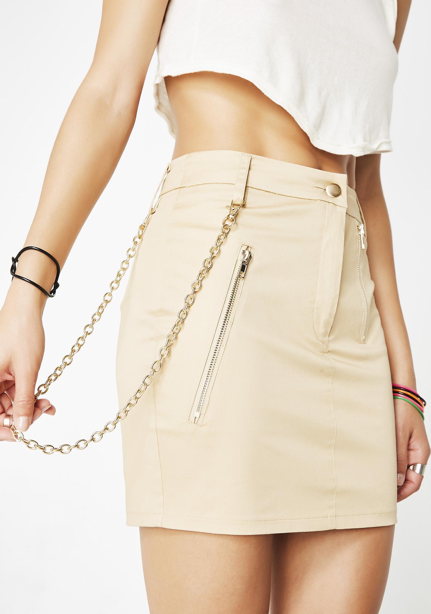 Sry Not Sry Chain Skirt