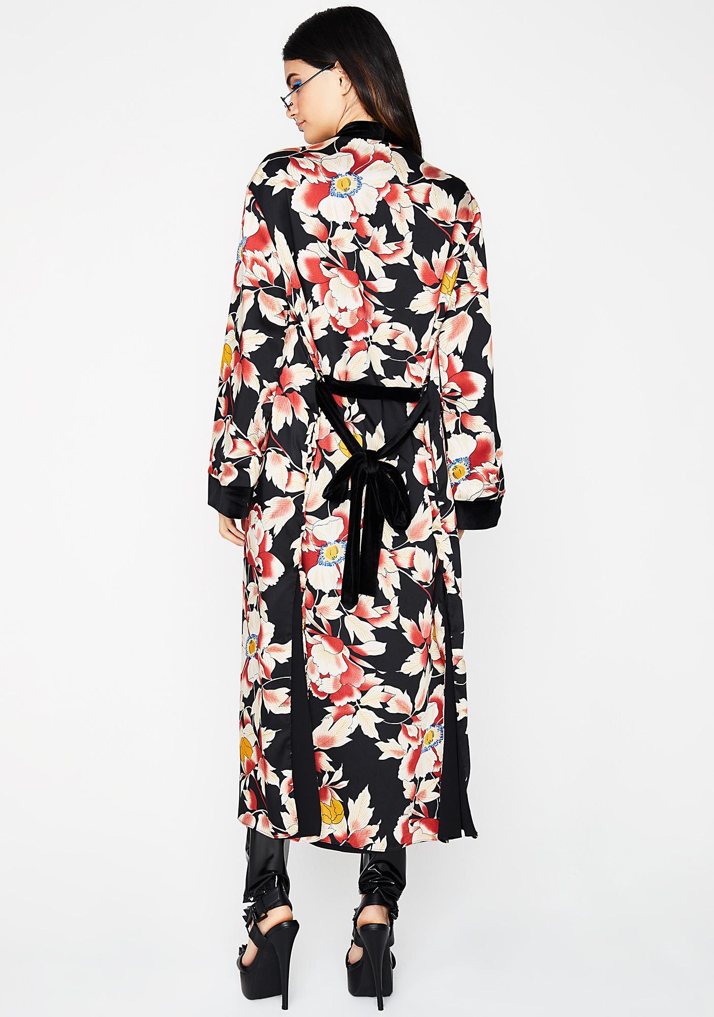 Mini Vacay Floral Kimono