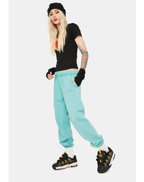 Turquoise Jogger Sweatpants