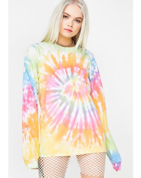Peace On Earth Tie Dye Long Sleeve