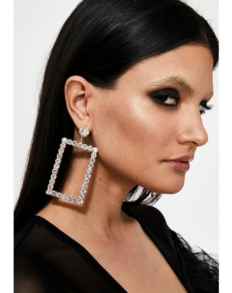Take A Pic Rhinestone Earrings